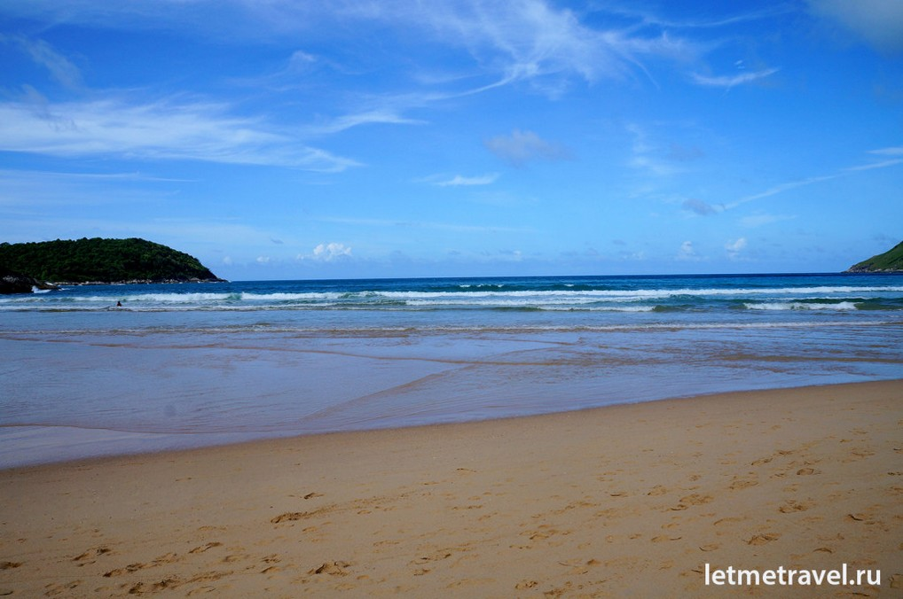 Morning at the Nai Harn Beach