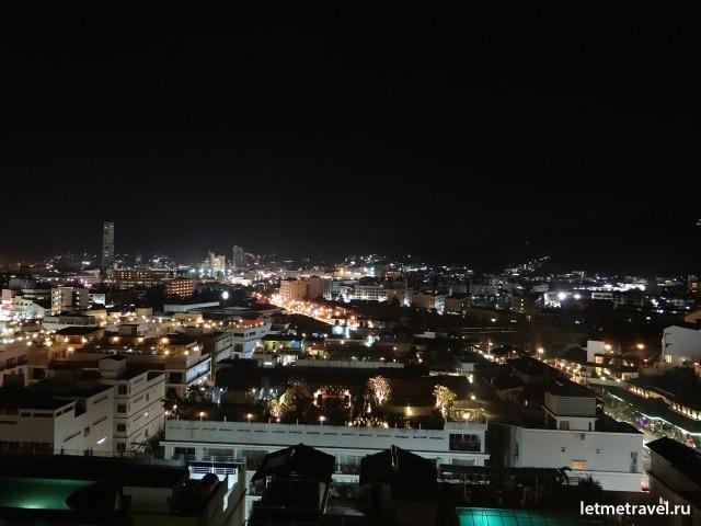 Вид на ночной Патонг
