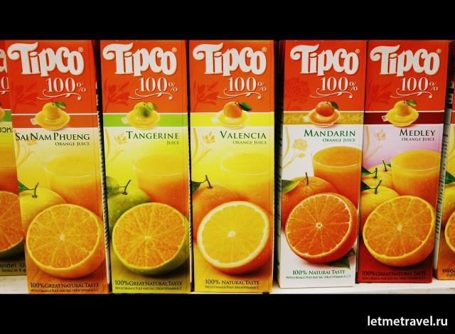 Разнообразие апельсинового сока