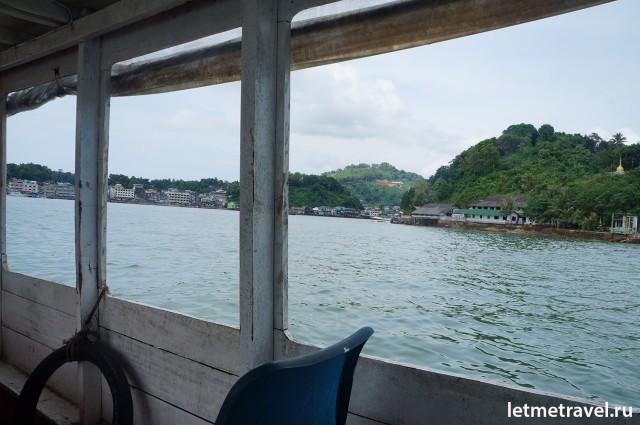 Виза - ран на лодке в Бирму