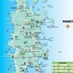 Карта Пхукета с пляжами