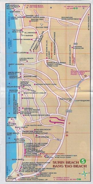Карта пляжа Банг Тао