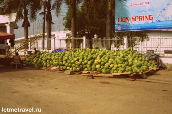 По дороге на автовокзал - арбузы на дороге валяются=)