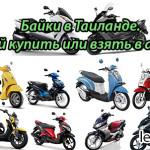 Скутеры в Тайланде. Какой байк купить или взять в аренду.